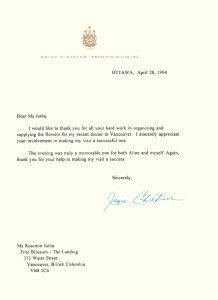 Prime Minister Letter